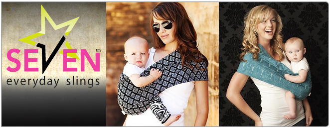 Shop with Seven Slings coupon codes to save on: Seven Slings everyday slings, in styles like Black Magic, Caramel Latte, and Autumn Blaze; Seven Slings three-piece gift sets, including one sling, a matching set of baby leg warmers, and an acrylic adult bracelet with matching sling fabric inside.