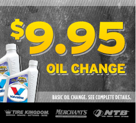 Tire Kingdom Oil Change >> $9.99 Oil Change and Tire Rotation Coupon!
