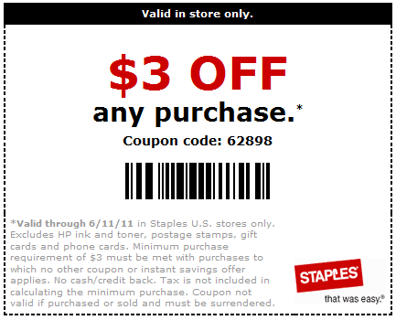 staples coupons for printer ink cartridges