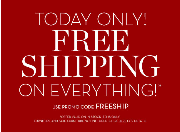Free Shipping: Pottery Barn has free shipping on selected items based on a particular category or item you choose. These items may change regularly, so keep an eye out for pillows, gifts, sale items and home decor that have free shipping.