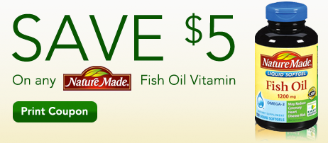 Limited time rite aid coupon 5 off nature made fish oil for Rite aid fish oil