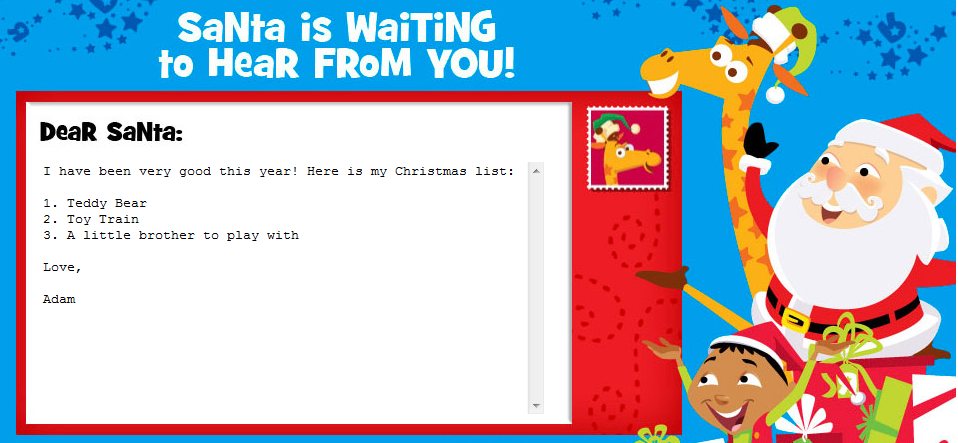 Send A FREE Letter To Santa From Toys R Us
