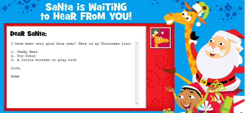Target Stores Write Letter To Santa