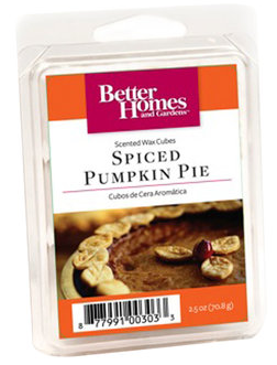 ... you'll be able to snag a FREE Spiced Pumpkin Pie Scented Wax Cube