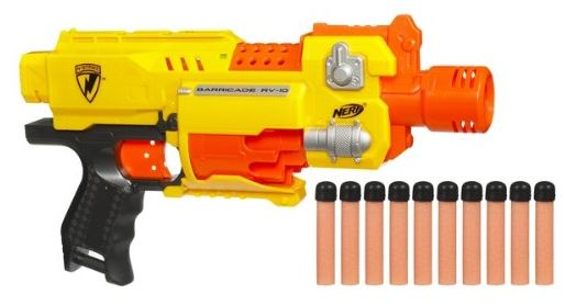 Amazon currently has the Nerf N-Strike Barricade RV-10 marked down to $9.99  (from $21.99)! This toy has a 4 out of 5 star customer rating and it will  ship ...