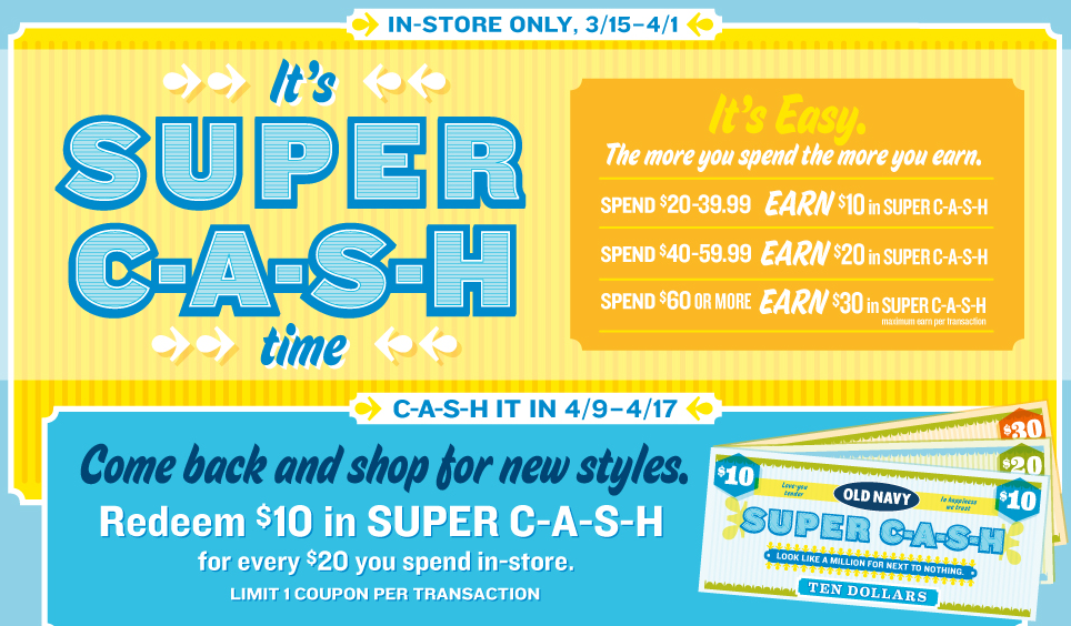 how do i redeem super cash online? i don't know what code to enter. Jump to. Sections of this page. Accessibility Help. Press alt + / to open this menu. Facebook. Email or Phone: ‎ Steph R Garcia ‎ to Old Navy. June 25, · Dallas, TX · how do i redeem super cash online? i .
