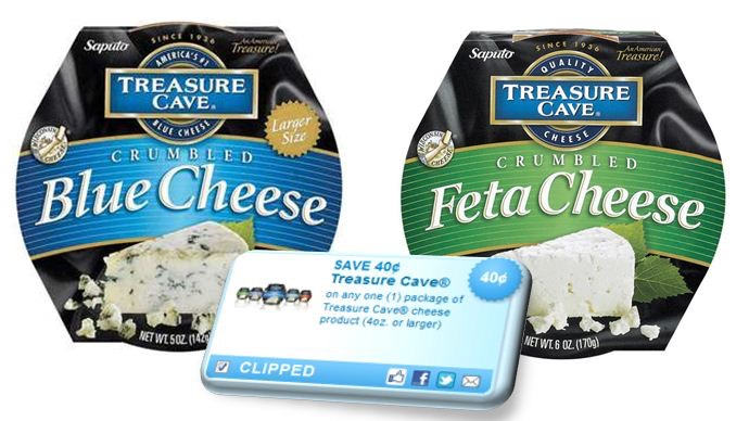 Treasure Cave Coupon Blue And Feta Cheese For Under 2 At Walmart