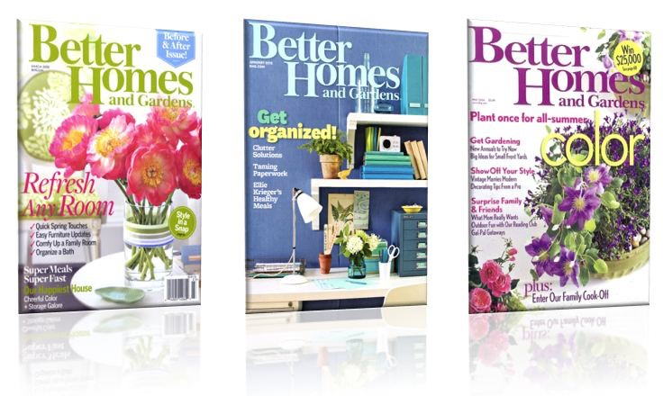 may be able to request a free subscription to better homes and gardens