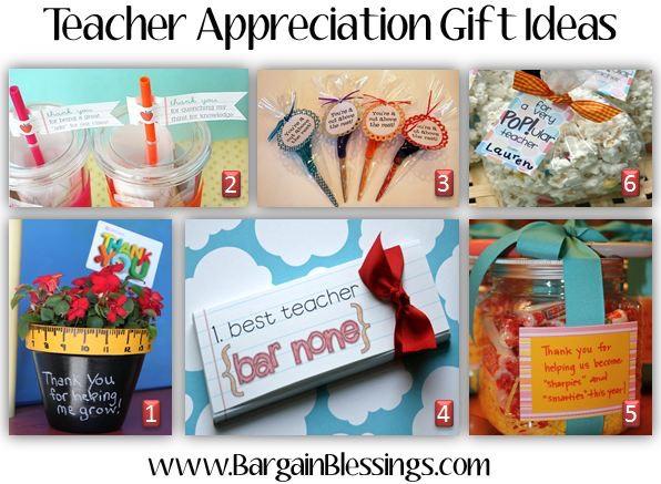 Homemade Teacher Appreciation Gift Ideas!