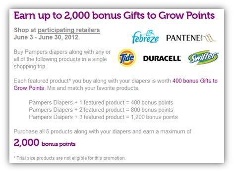 Pampers Gift to Grow: Earn Up to 2,000 Bonus Points When You Buy ...