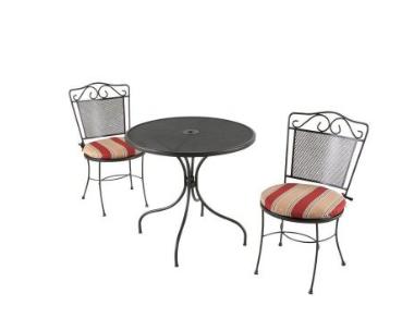 home depot 3 piece patio bistro set 79 shipped. Black Bedroom Furniture Sets. Home Design Ideas