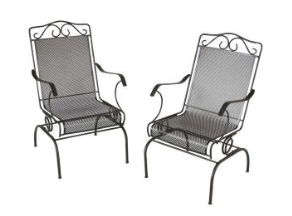 home depot napa 2 piece wrought iron patio chair set 52 shipped rh bargainblessings com napa patio furniture website napa living patio furniture