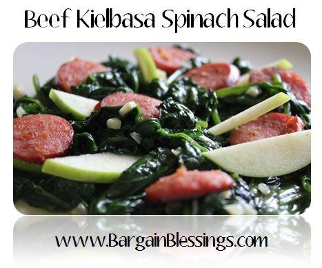 beef-kielbasa-spinach-salad