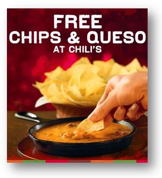 The very popular Chili's Coupon is back for FREE Chips and Queso