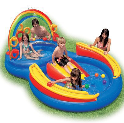 Target Daily Deal Kids Intex Rainbow Ring Play Center Pool 35 Shipped