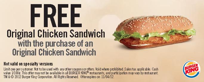 Burger king coupons canada may 2018
