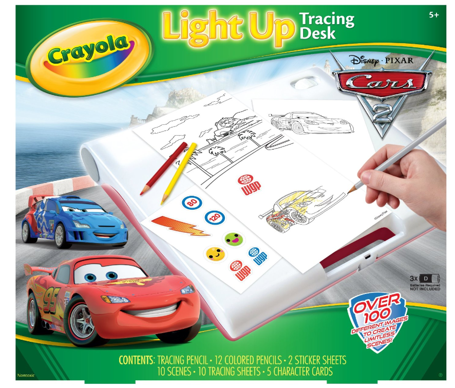 Amazon Crayola Cars 2 Light Up Tracing Desk 11 20 Shipped