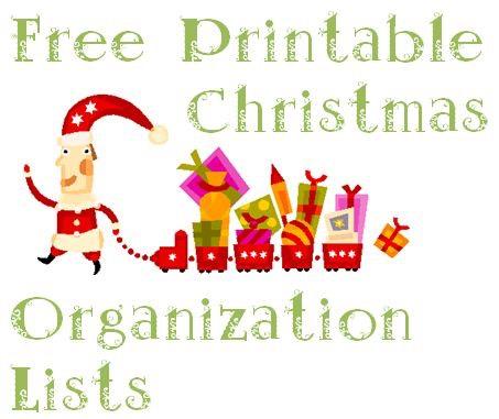 FREE Printable Christmas Organization Lists – Free Printable Christmas Lists