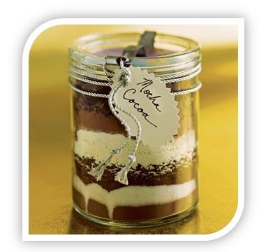 Homemade christmas gift ideas hot chocolate jar solutioingenieria Gallery