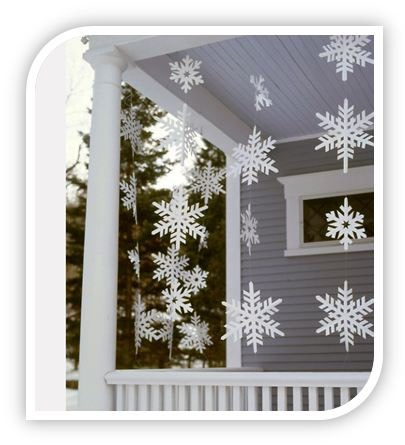 Homemade christmas decoration idea let it snow let it for Homemade decorations
