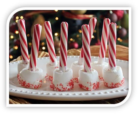 Candy Cane Marshmallow Hot Chocolate Stirrers