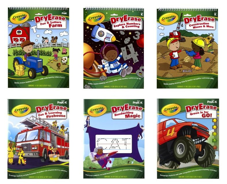 crayola dry erase activity books 6 pack only 11 99