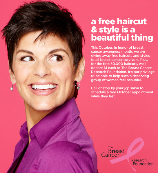 free haircuts for cancer patients jcpenney salon free haircuts for breast cancer survivors 3722