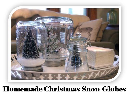 Homemade christmas snow globes 99 days of christmas for Easy homemade christmas snow globes