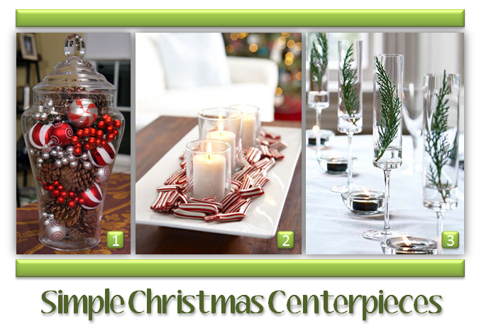 Simple christmas centerpieces dress up your dining room