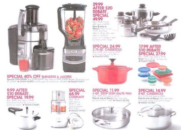 macy's black friday deals 2012: household items, apparel and much