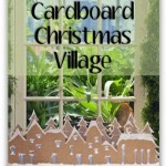 Homemade Christmas Decorations: Christmas Village Made Out of Cardboard!