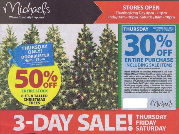 Michaels Black Friday Coupons, Deals and Ad Scan!