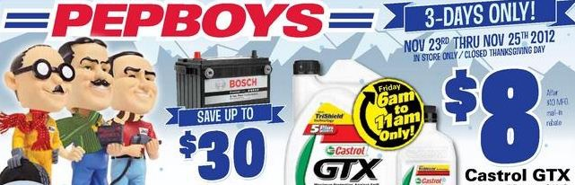 sc 1 st  Bargain Blessings & Pep Boys Black Friday Deals 2012: Oil Car Parts and More!