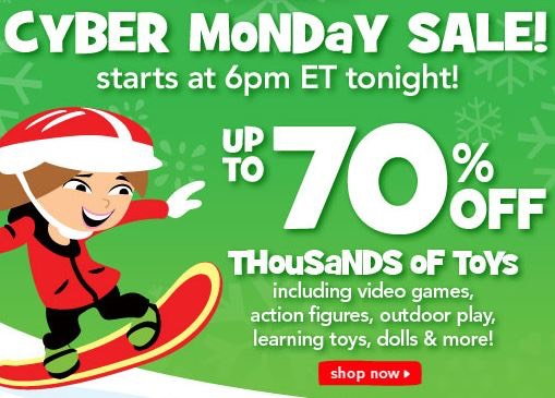 toys r us cyber monday sale up to 70 off thousands of toys. Black Bedroom Furniture Sets. Home Design Ideas