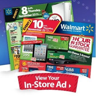 Walmart Black Friday Ad for 2012: Three Events!