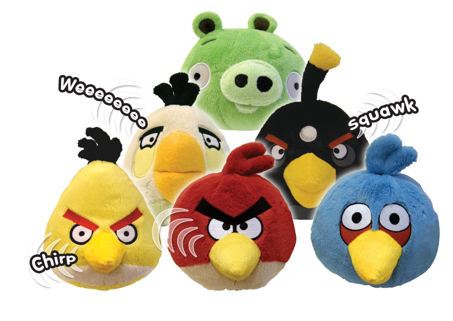 Angry Birds Stuffed Toys : Angry birds plush toys with sounds just down from