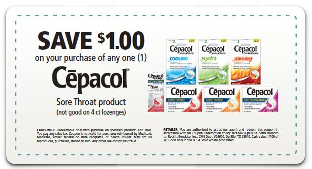 Cepacol Coupon: Save $1 + Rite Aid Scenario to Get it for .99!