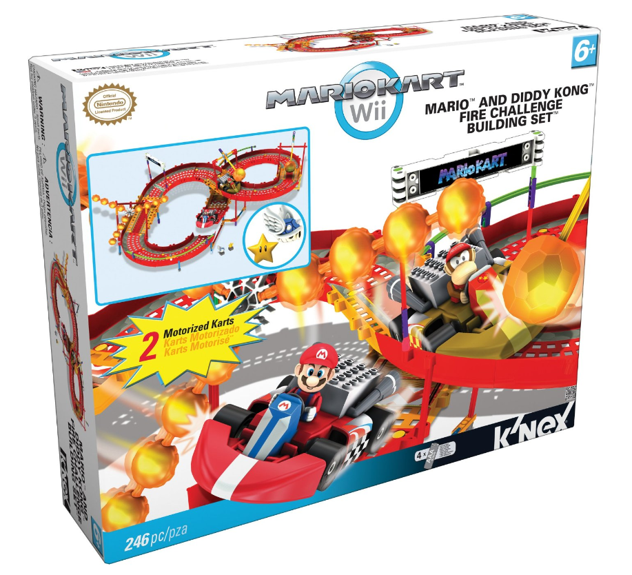 Nex mario kart amp diddy kongs fire building challenge set only 21 99