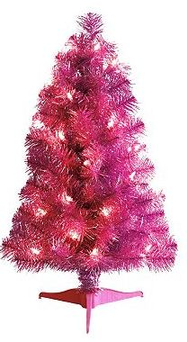 Delightful St. Nicholas Square Pre Lit Pink 2 Foot Tabletop Christmas Tree $6.60 (down  From $21.99)  20% Off Coupon Code U003d$5.28!