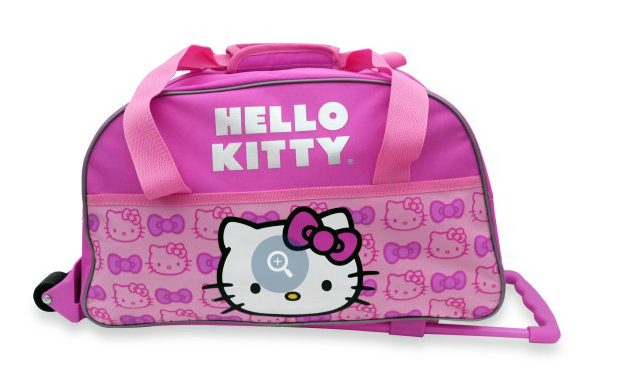 Beautiful For all you Hello Kitty fans here is a really cute rolling duffel bag that Bed Bath u Beyond has priced at only This could be perfect for a child us