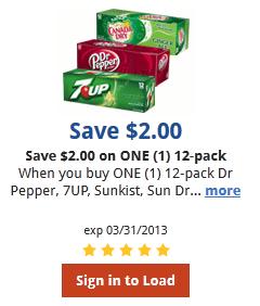 King Soopers & Kroger Digital Coupon: Save $2 on Soda!