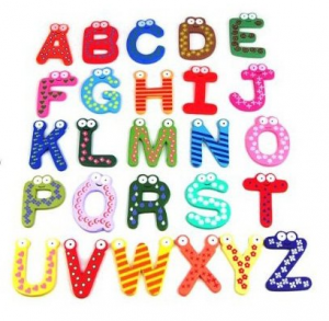 Wooden-Magnetic-Letters