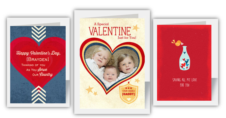 military valentines day cards