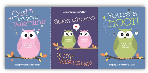 30 FREE Valentines Day Cards from Vistaprint Just Pay Shipping – Owl Valentines Day Cards