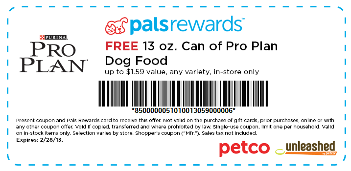 Online cat food coupons