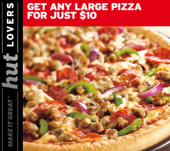 Get a large 3-topping or specialty pizza, 1 side, and a 2-liter bottle of soda for only $15 with this Pizza Hut coupon code. Valid at participating locations only; see your local Pizza Hut for details/5(13).