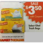 Glad Trash Bags for Only $1.50 at Family Dollar!