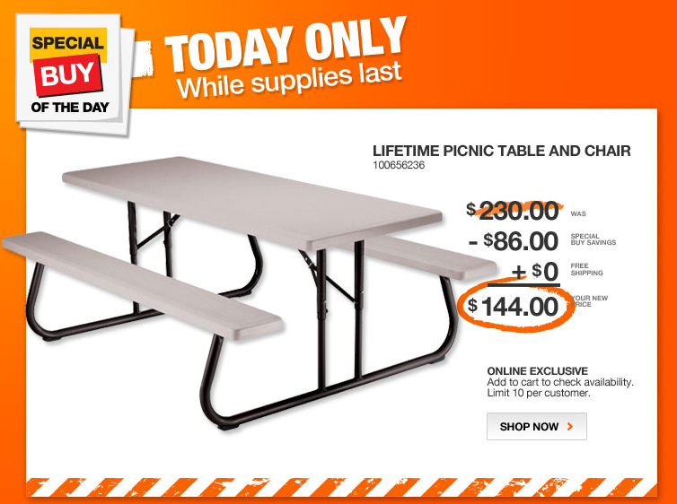 Lifetime Folding Picnic Table Shipped Down From - Picnic table supplies
