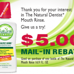 FREE Natural Dentist Mouth Rinse After Rebate at Walgreens!