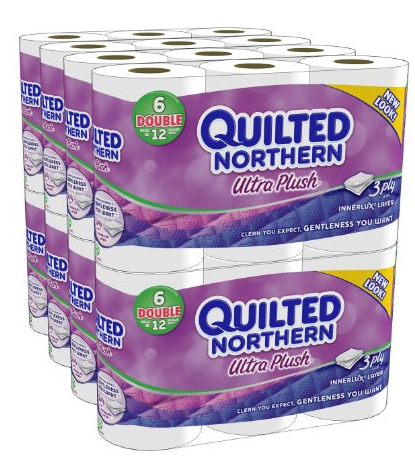 Quilted Northern Ultra Plush 48-Double Rolls  Only  21 74 Shipped    Quilted Northern Ultra Plush Barcode